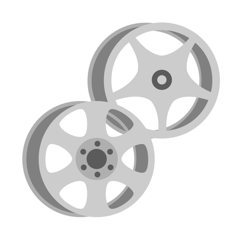Alloy wheel fitting icon